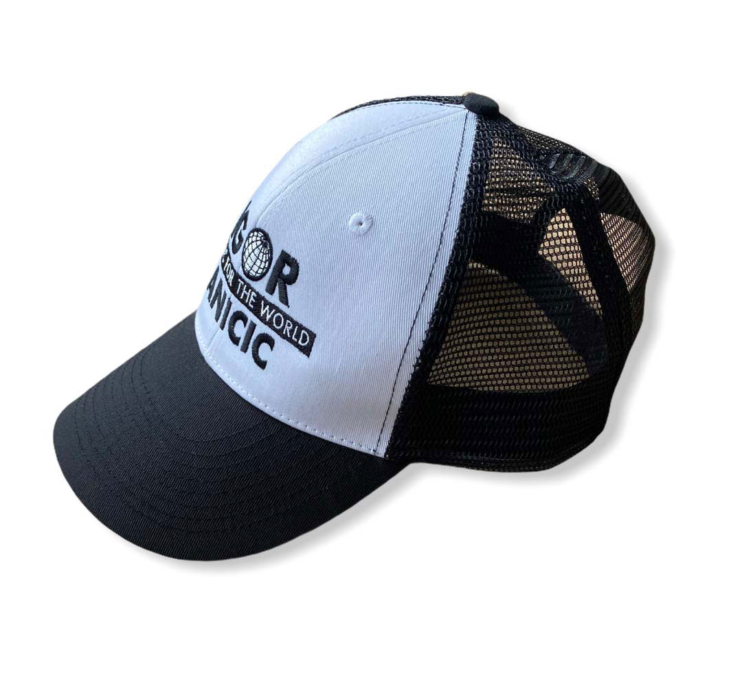 Trendiges 6 Panel Mesh Cap white/black